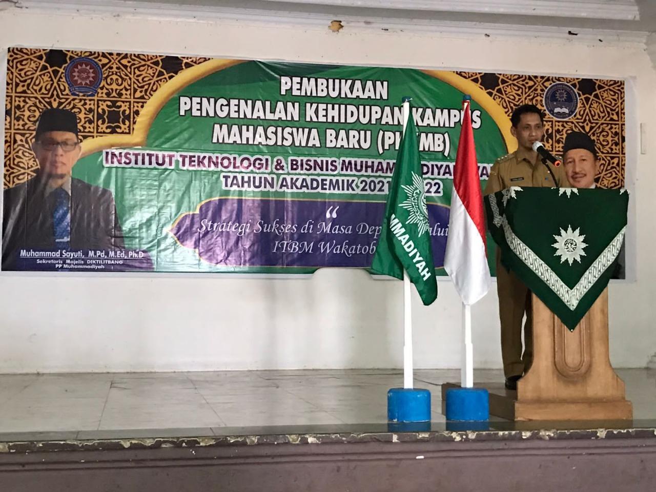 Bupati Wakatobi dan Sekretaris Diktilitbang Hadir di PPKMB ITBM Wakatobi