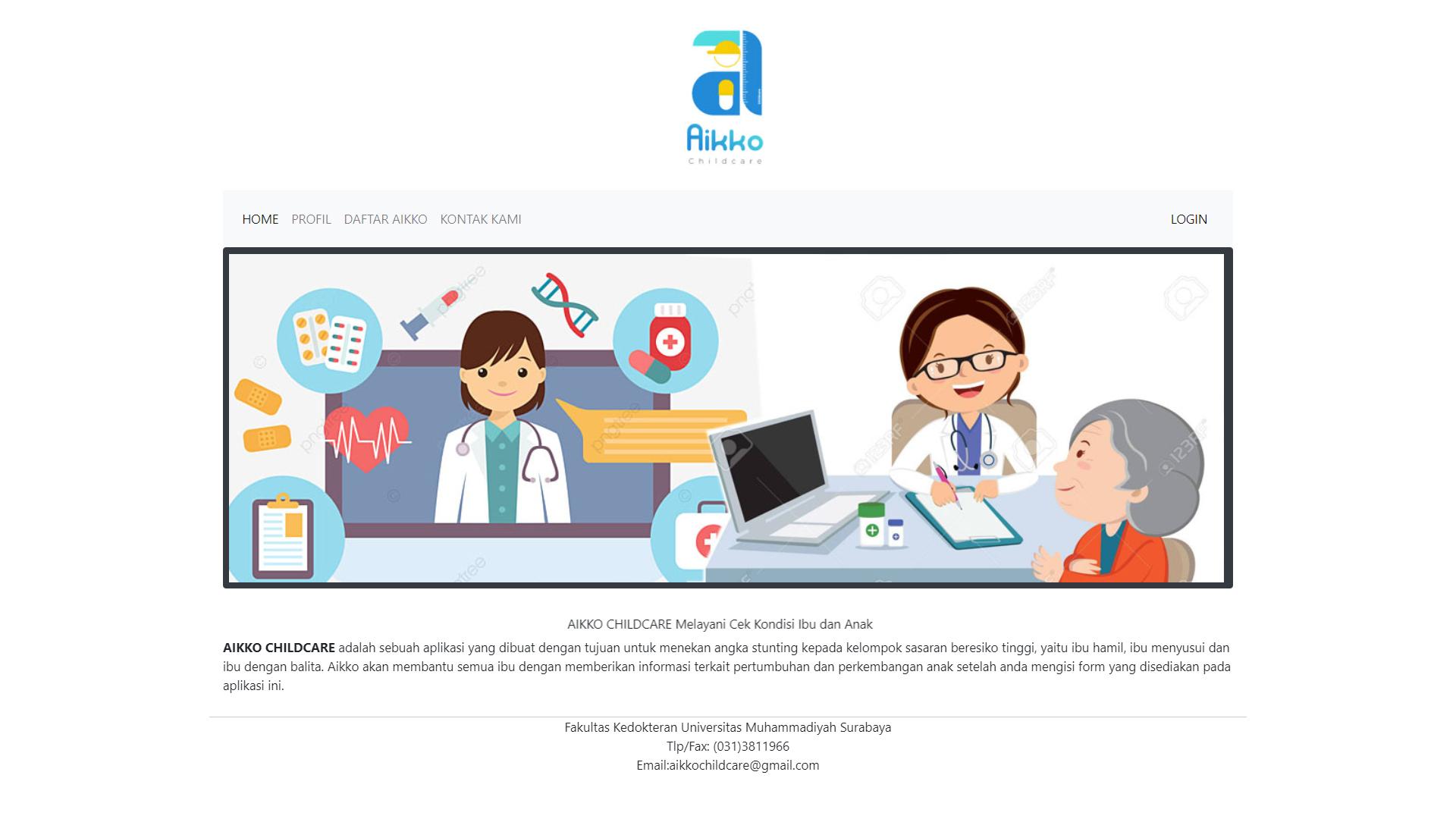 Aplikasi Aikkochildcare UM Surabaya Fokus Penanganan Stunting